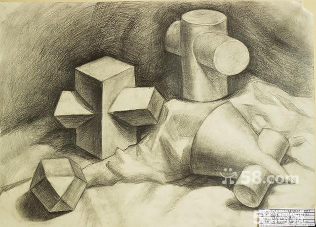 素描石膏体圆柱图片图片