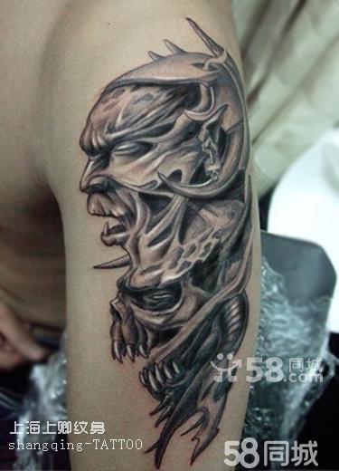 欧美骷髅头纹身