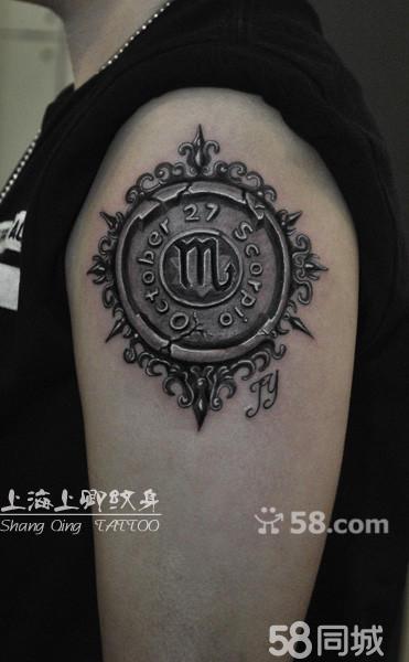 星座罗盘纹身