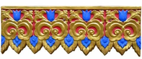 傣族民族特色建筑装饰花边线条
