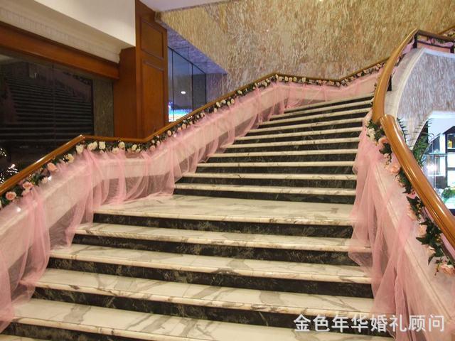 婚礼欧式楼梯装饰