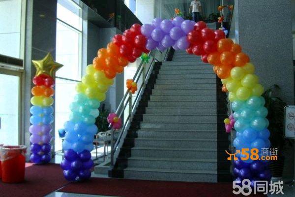 幼儿园楼梯布置图片气球