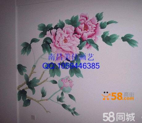 南昌背景墙手绘墙彩绘墙绘涂鸦壁画供应!
