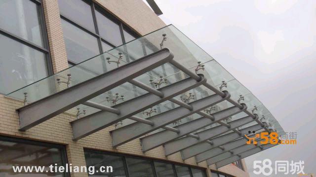 钢结构玻璃雨棚,上海玻璃雨篷